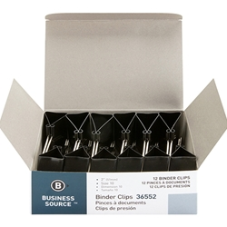 BINDER CLIPS - 2 INCH, BOX OF 12